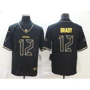 Youth Buccaneers Tom Brady Black Gold Jersey